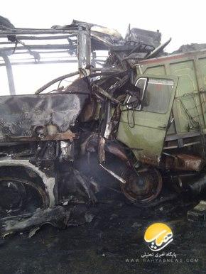 تصادف اتوبوس در جاده اهواز-اصفهان